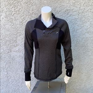 Head Black Gray Workout Active Pullover Sweater